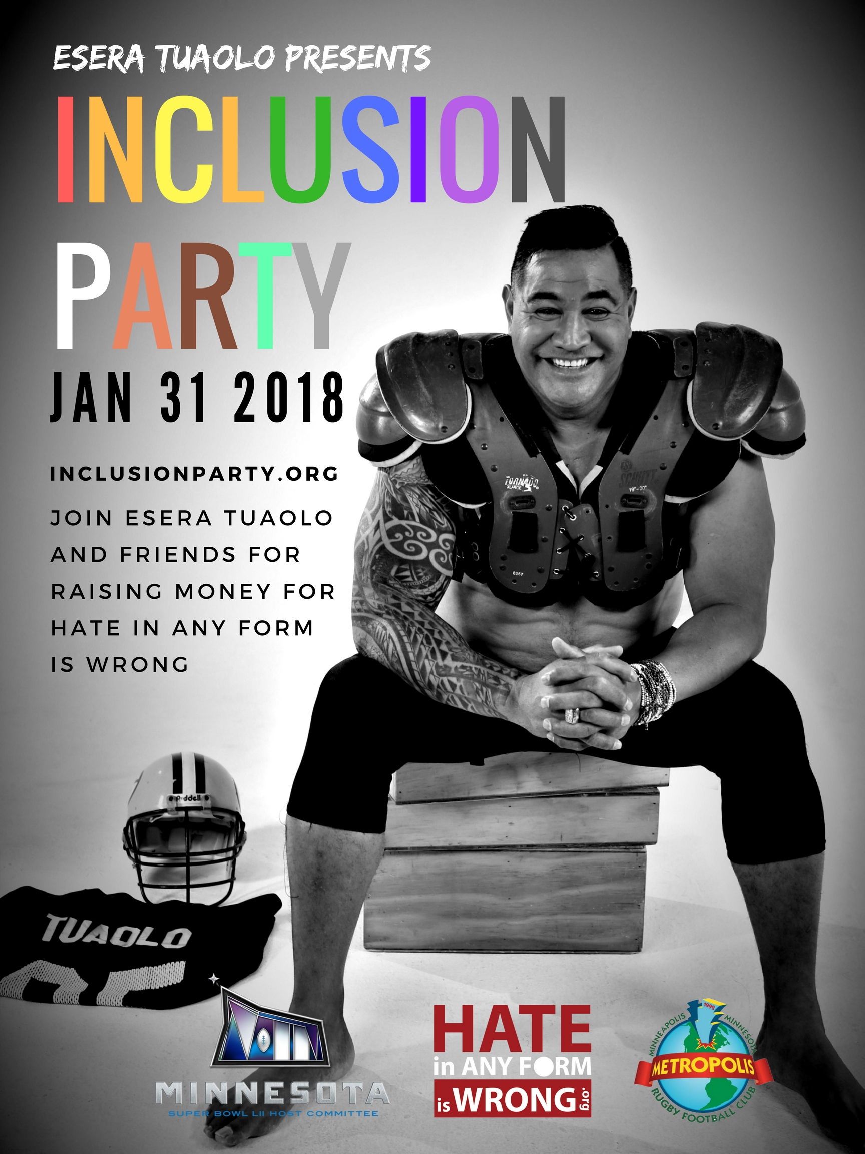 Hate Is Wrong Inclusion Party 2017