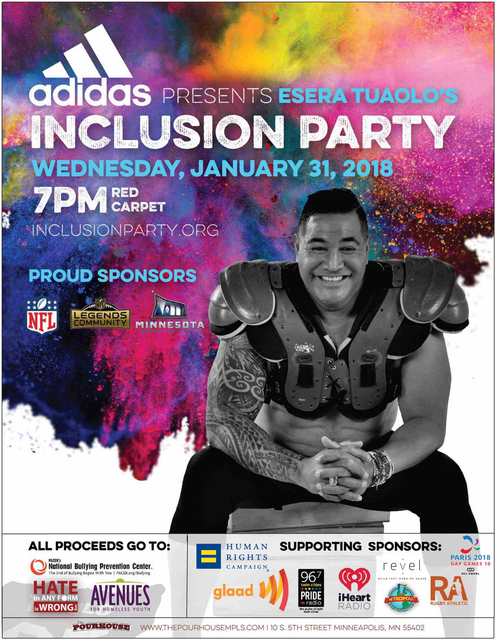 adidas presents inclusion party 2018