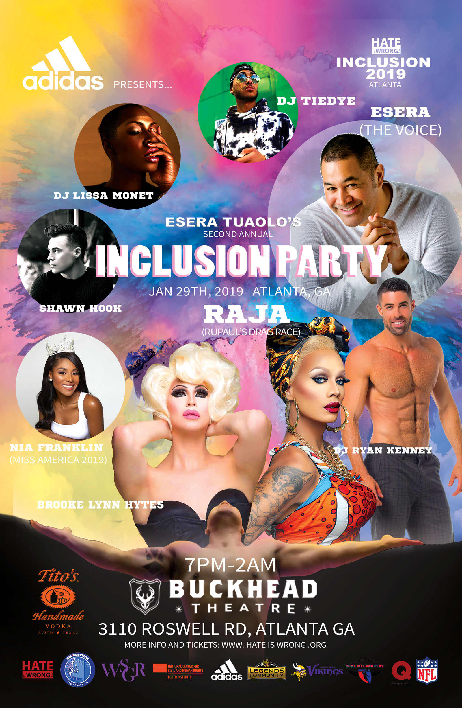 Inclusion Party 2019 Flyer